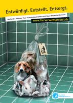 Plakat gegen Tierversuche