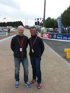 Im Velodrom Roubaix mit Benno Mendl (Merida-Händler aus Grafing)