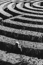 individu perdu dans un labyrinthe