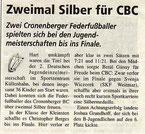 Cronenberger Woche Bericht vom 19.11.2004