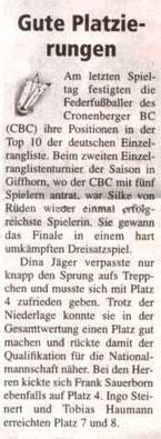 Cronenberger Woche Bericht vom 23.04.2004