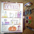 Paper Break papeterie creteil val de marne region parisienne ateliers bullet journal dessin potions octobre gratuit
