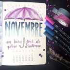 Paper Break papeterie creteil val de marne region parisienne ateliers bullet journal dessin parapluie citation novembre aquarelle