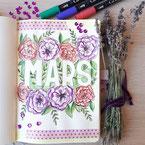 Paper Break papeterie creteil val de marne region parisienne ateliers bullet journal janvier page garde bujo fleurs printemps