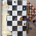Paper Break papeterie creteil val de marne region parisienne ateliers bullet journal janvier page garde jeu echecs serie queen's gambit