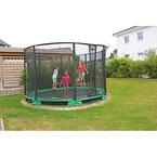 Filet de sécurité pour trampoline géant enfant. Matériel de qualité à acheter pas cher.