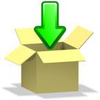 ein Paket mit Pfeil als Symbolbild
