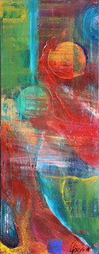"""Farbelemente"" - Acryl auf Leinwand 30x70"