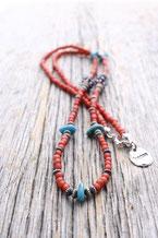 antique beads  アンティークホワイトハーツビーズ