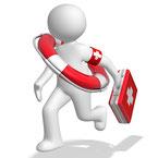 Hilfe per Telefon, Remote- und Vor-Ort Service!