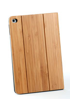 ipad mini4 flip case bamboo wood front