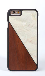 iphone 6 6s case bamboo and white nacre front