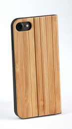 iphone 7 flip case bamboo wood front