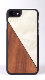 iphone 7 case bamboo and white nacre front