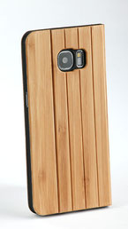 Galaxy s7 edge wooden flip case bamboo