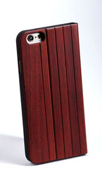 iphone 6 6s flip case red rose wood front