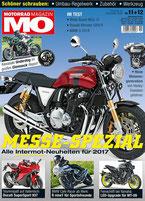 Motorrad Magazin 11+12/16 6-seitiger Bericht über die Silverback