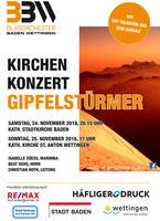 Konzert Plakat Kirchenkonzert Gipfelstürmer