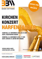Konzert Plakat Kirchenkonzer Harfenzauber