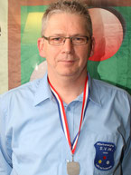 Johan vd Kasteele, districtkampioen bandstoten 3e klas