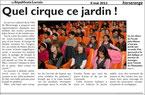"""Spectacle pour les enfants et la famille - """"Quel cirque, ce jardin !"""" - saison 2011-2012 - représentations données à HERSERANGE - compagnie théâtrale Les GuiGnOlOs"""