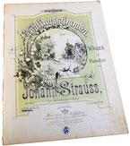 Весенние голоса, вальс Штрауса, старинные ноты для фортепиано