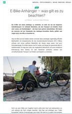 Kinderanhänger und Hundeanhänger für Fahrräder