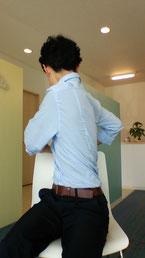座りすぎた後に腰が痛い奈良県大和高田の女性