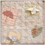 Mother's Dreamのてるてる坊主のミニタペストリーの画像です。