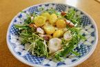 たこと水菜のサラダ