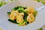 小松菜と卵の炒めもの