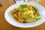 キャベツと鶏肉の炒め物