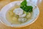 レンコン白玉団子 もちもち スープ