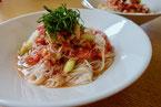 トマトなすの冷たい素麺