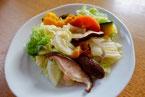 白菜 かぼちゃ にんじん しいたけ じゃこ 季節野菜のフライパン蒸し