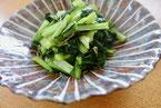 小松菜とじゃこ炒め