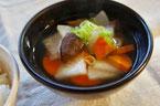 干し椎茸根菜のお吸い物