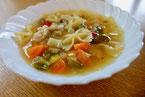 リボンパスタ入りスープ