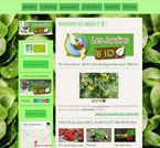 Les jardins bio site réalisé en formation avec e-cime.fr