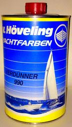 Hövelng DD Verdünner 990 speziell eingestellt auf Bergotec Kunststoff-Fenster-Lack