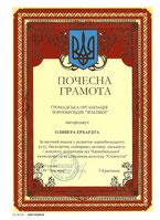 Urkunde für die erfolgreiche Tour Hamburg Kiew 2007