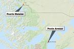 Bild: Karte der Reiseroute durch Chile