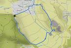 Bild: Karte zur Wanderung am Rand des Nördlinger Ries