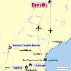 Bild: Karte der Reiserouten durch Brasilien