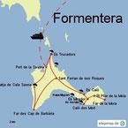 Bild: Karte von Formentera