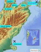Bild: Kare der 8-tägigen Reise durch Neuseeland