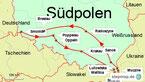 Karte der Rundreise in Südpolen