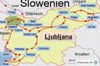 Karte der Rundreise durch Slowenien mit dem Wohnmobil