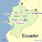Bild: Karte der Reiseroute durch Ecuador