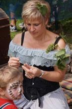 Kinderschminken auf dem Spielmannshof Seitenroda zum Kindergeburtstag